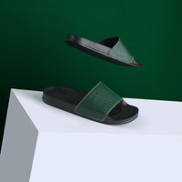Sendal Slop Pria Cogen Rubber Leather Sandal Slide Cowo