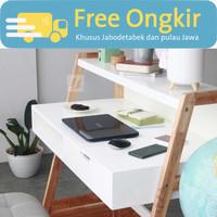 Nayanika Furniture - Meja Kerja Esthetik Minimalis - MARIGOLD 2
