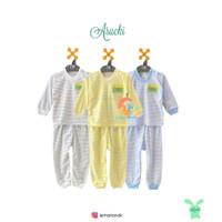 ARUCHI Setelan Oblong Panjang & Celana Panjang Size 3-12 Bulan (SALUR)
