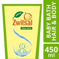Zwitsal Baby Bath Hair And Body Natural Aloe Vera 450 Ml