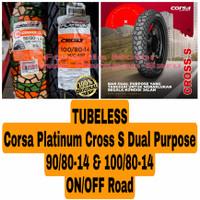 Corsa Platinum 90/80-14 & 100/80-14 Cross S Dual Purpose Sepasang Ban