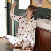 Piyama Baju Tidur Wanita Import PP Fashion Lengan Celana Panjang 7504