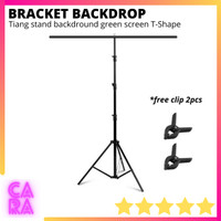 Bracket Stand Backdrop Tiang Green Screen Background Foto T-Shape