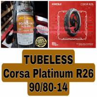 Corsa Platinum 90/80-14 R26 - Ban Motor Matic Ring 14 Tubeless