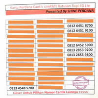 Kartu Perdana Simpati Telkomsel Nomor Cantik Ratusan Segel Murah