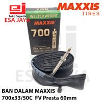 Ban Dalam Maxxis 700x33-50C FV Presta 60mm 700x35 700x40 700x45