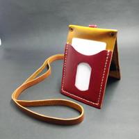 id badge holder kulit double sides