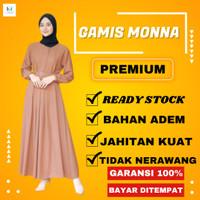 Baju Gamis Terbaru Remaja Kekinian Modern Wanita Dress Sarah Maxy 2021