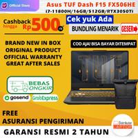 Asus TUF Dash F15 FX506HE i7-11800H GTX3050Ti 16GB 512GB 144hz OHS W10
