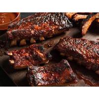 Full Rack BBQ Baby Back Ribs Pork (sudah matang)