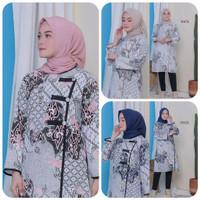 Baju Batik Wanita - Atasan Batik Kerja - Tunik Batik BS02