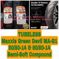 Maxxis 80/80-14 & 90/80-14 Green Devil MA-G1 Sepasang Ban Tubeless