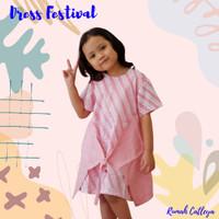 Baju Dress Batik Anak Perempuan Apper Series Pink