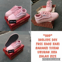 sepatu anak perempuan import Vans oldskool Pink tali size 22-35 - 22-24chat admin