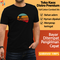 Kaos Cowok Dewasa Baju Distro Original Premium Terbaru SEPEDA RD B2010 - Hitam, M