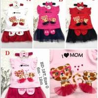 Setelan baju dan rok tutu bayi perempuan umur 1 tahun