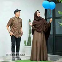 Fashion Couple   Baju Pasangan Pria Wanita Muslim Kekinian Farhana Cp - Milo & Choco