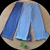 Celana Jeans Boyfriend Kulot Wanita Uk 27-30