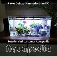 Paket Aquarium Deluxe Gex Glassterior Slim 450