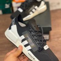 sepatu pria Adidas NMD r1 black white premium quality - 40