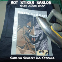 Stiker Baju Anime AOT Eren Yeager
