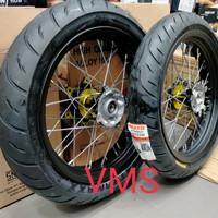velg Supermoto CRF plus ban maxxis 110/70 130/70 velg sprint xd