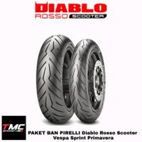 Ban Pirelli Diablo Rosso Scooter Vespa Scoopy 120/70-12 130/70-12