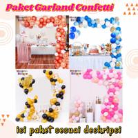 paket balon garland set dekorasi pesta ulang tahun anak / baby shower