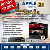 Receiver tv set top box dvbt2 matrix apple antena tv digital