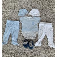 Set jumpsuit, celana dan topi baby newborn Mothercare