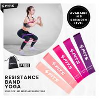 SFIDN FITS Resistance Band Yoga / Olahraga / Senam / Aerobic Band - Pink lvl 2