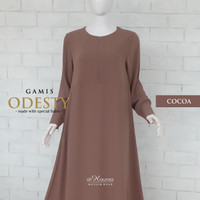 Al Hauraa Gamis Wanita Odesty Dress Simple Polos Busui