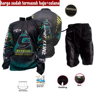 Baju Jersey Celana Kaos Sepeda Gunung Hijau Fx Setelan Set