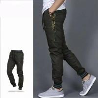 Man Jadda Celana Jogger List ARMY | Jogger Pants Pria HIJAU ARMY