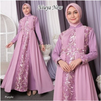 FASHION MUSLIM / DRESS WANITA MUSLIM / GAMIS WANITA NIUYA / BRIDESMAID - Purple New