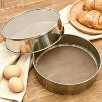 Ayakan saringan halus Tepung Gula Stainless Tebal BULAT flour sieve