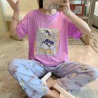baju tidur wanita piyama import stelan CP kaos Big Size