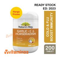Nature's Way Garlic + C & Horseradish - 200 Tablet