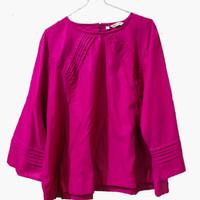 Atasan Blouse Wanita Jumbo Polos Pink ASA Collection