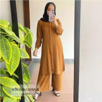 Fashion Khanaya Set 2 in 1 | Setelan Tunik Dan Celana Wanita Muslim - Mustard