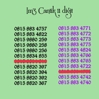 Perdana nomor cantik Indosat 11 digit