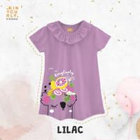 Poppy Dress Kinycurly Dress anak casual baju anak perempuan - Lilac, 8