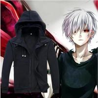 Jaket Jepang/Anime Cosplay Tokyo Ghoul - Tokyo Ghoul Black Jacket - Hitam, M
