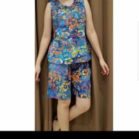 Baju Tidur Batik Anita Baby Doll Celana Pendek Size S Tanpa Kancing