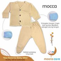Baju bayi baru lahir setelan tutup kaki Moons - Mocca