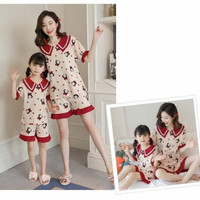 PIYAMA MOM AND KIDS COUPLE IMPORT - Red Bow, 160