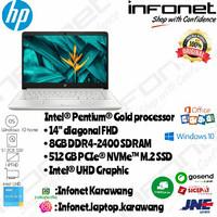 HP 14s-CF2508TU 6405U Pentium Gold 8Gb 512Gb 14 FHD Intel Silver