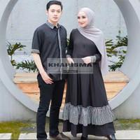 Fashion Couple | Baju Pasangan Pria Wanita Muslim Kekinian | Iranada - Hitam