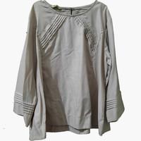 Atasan Blouse Wanita Jumbo Polos Krem ASA Collection