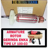 ARMATURE ROTOR GERINDA ENKA LY 100-03 ANGKER GRINDA ENKA TIPE LY100-03